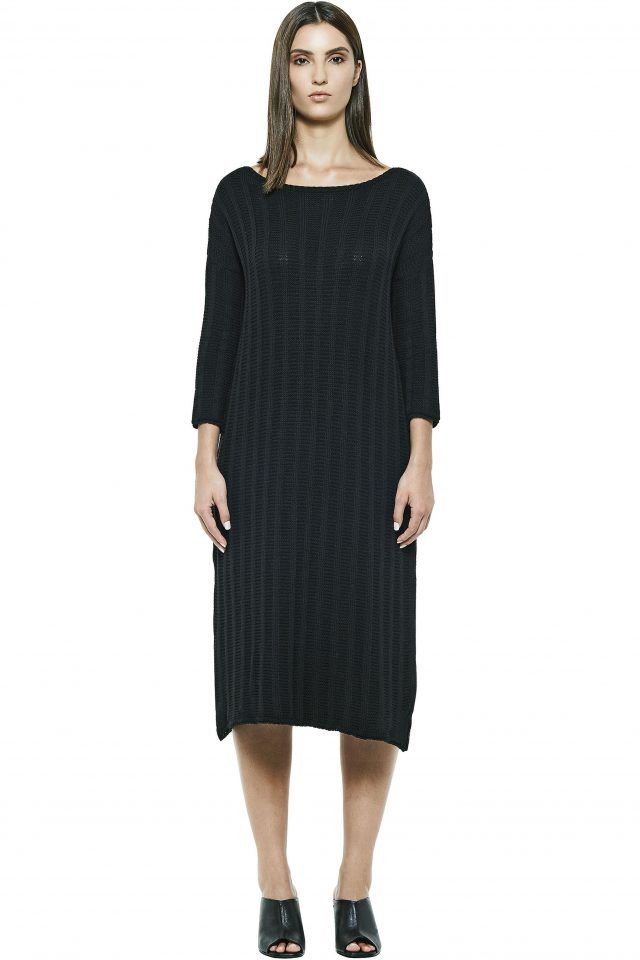 Bateau Knitting Dress
